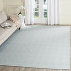 Kris Hand-Woven Light Blue Area Rug Rug Size: Rectangle 4' x 6'