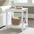 Larksmill Side Table Color: White