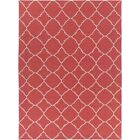 Darby Hand-Woven Red Area Rug Rug Size: Rectangle 8' x 11'