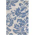 Diana Hand-Woven Denim/Cream Area Rug Rug Size: Rectangle 4' x 6'