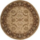 Florence Hand-Woven Brown Area Rug Rug Size: Round 8'