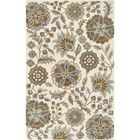 Jasmine Parchment & Moss Tufted Wool Area Rug Rug Size: Rectangle 5' x 8'