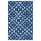 Kenzie Navy & Parchment Hand-Woven Wool Area Rug Rug Size: Rectangle 5' x 8'