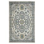 Lamothe Hand-Tufted Rust Area Rug Rug Size: Rectangle 9' x 12', Color: Blue/Natural