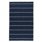 Rogan Flat-Woven Wool Blue/Ivory Area Rug Rug Size: Rectangle 4' x 6'