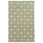 Optic Grey/Ivory Geometric Area Rug Rug Size: Rectangle 3'6