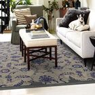 Color Influence Distressed Look Grey / Blue Area Rug Rug Size: Rectangle 8' x 10'