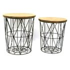 Round 2 Piece Metal Decor End Table