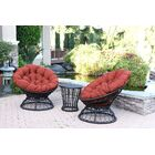 3 Piece 2 Person Seating Group with Cushions Fabric: Brick Red