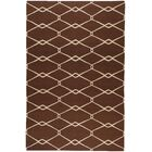 Fallon Chocolate/Ivory Area Rug Rug Size: Rectangle 8' x 11'