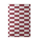 Plaid Hand-Woven Rust Indoor/Outdoor Area Rug Rug Size: Rectangle 3' x 5'