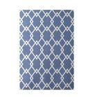 Geometric Light Blue Indoor/Outdoor Area Rug Rug Size: Rectangle 3' x 5'