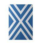 Stripe Blue Indoor/Outdoor Area Rug Rug Size: Rectangle 3' x 5'
