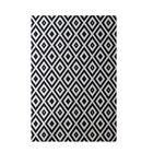 Geometric Navy Blue Indoor/Outdoor Area Rug Rug Size: Rectangle 3' x 5'