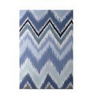 Ikat-arina Stripe Print Cadet Indoor/Outdoor Area Rug Rug Size: Rectangle 3' x 5'