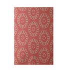 Alexis Floral Print Red Indoor/Outdoor Area Rug Rug Size: Rectangle 3' x 5'
