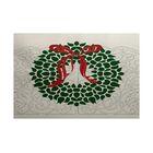 Wreath Green Indoor/Outdoor Christmas Area Rug Rug Size: Rectangle 3' x 5'