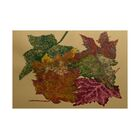 Maillett Autumn Leaves Flower Print Gold Indoor/Outdoor Area Rug Rug Size: Rectangle 3' x 5'