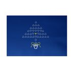 Hearty Holidays Decorative Holiday Print Royal Blue Indoor/Outdoor Area Rug Rug Size: Rectangle 3' x 5'