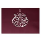 Decorative Holiday Print Cranberry Burgundy Indoor/Outdoor Area Rug Rug Size: Rectangle 5' x 7'