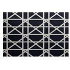 Durant Trellis Geometric Print Navy Blue Indoor/Outdoor Area Rug Rug Size: Rectangle 4' x 6'
