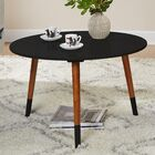 Prichard Coffee Table Color: Black/Walnut