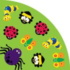 Back to Nature Bug Green Kids Rug Rug Size: Wedge 6'7