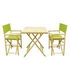 Shawmut Bamboo 3 Piece Outdoor Dining Set Color: Green