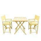 Shawmut Bamboo 3 Piece Outdoor Dining Set Color: Nude