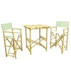 3 Piece Bar Height Dining Set with Cushion Color: Celadon