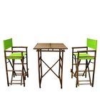 3 Piece Dining Set Fabric: Green