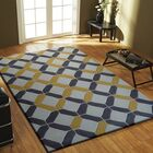 Heacock Transitional Hand-Tufted Charcoal/Yellow Area Rug