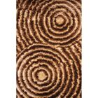 Shaggy 3D Gold/Brown Area Rug Rug Size: 5' x 7'