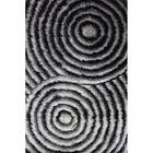 Shaggy 3D Gray Area Rug Rug Size: 7'6