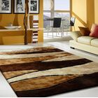 Owens Shaggy Hand-Tufted Brown Area Rug Rug Size: Rectangle 4' x 5'4