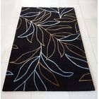Transition Black/Yellow/Blue Area Rug Rug Size: 5' x 7'
