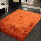 Heineman Solid Shag Hand-Tufted Orange Area Rug Rug Size: Rectangle 7'6