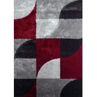 Lola Hand-Tufted Gray/Red Area Rug