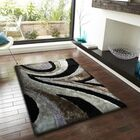 Shaughnessy Shag Hand Tufted Gray/Black Area Rug Rug Size: Rectangle 7'6'' x 10'3