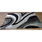 Yarbrough Hand-Tufted Gray/Black Area Rug Rug Size: Rectangle 5' x 7'