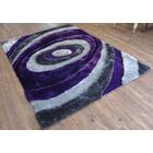Qualls Hand-Tufted Gray/Purple Area Rug