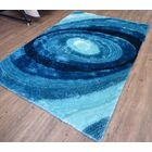 Qualls Hand-Tufted Turquoise Area Rug
