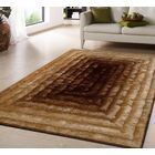 Crisman Hand Tufted Gold Brown Area Rug Rug Size: Rectangle 7'6