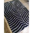 Hallock Shaggy Hand-Tufted Gray Area Rug Rug Size: Rectangle 7'6
