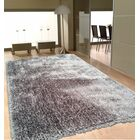 Port Pirie Shag Hand Tufted Gray Area Rug Rug Size: Rectangle 4' x 5'4