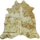 Emelia Hand-Woven Cowhide Gold/Ivory Area Rug