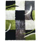 Sangiacomo Geometric Hand-Tufted Gray/Black/Green Area Rug