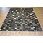 Petrillo Handmade Cowhide Silver Area Rug Rug Size: Rectangle 7'6