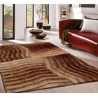 Pavonia Hand-Tufted Brown Area Rug Rug Size: Rectangle 7'6