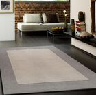 Payeur Transitional Hand WovenSolid Beige Indoor Area Rug